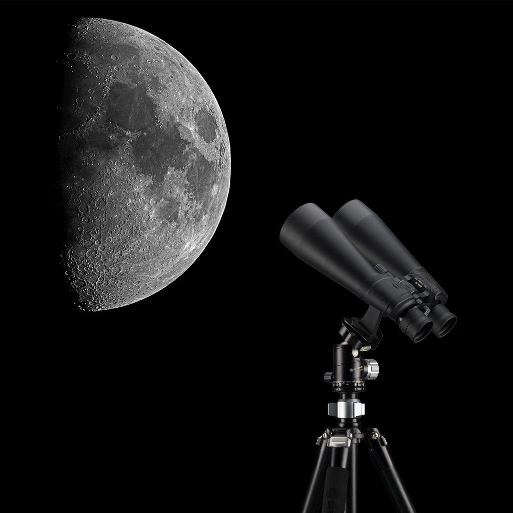 Ver la luna con binoculares