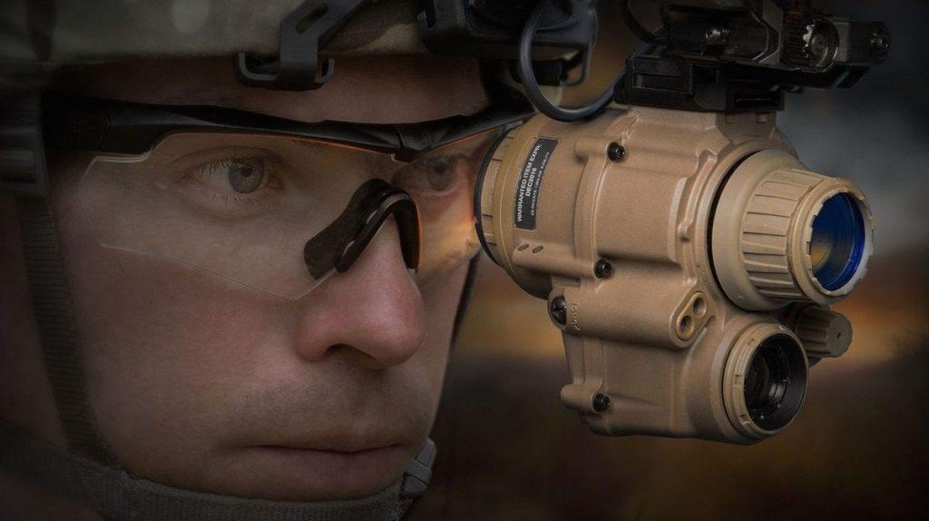 uso de los binoculares militares